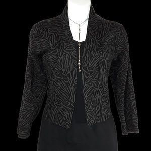 Calvin Klein Animal Print Shrug Cardigan